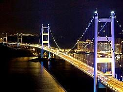 Cầu Treo Thanh Mã (Tsing Ma Bridge) ở Hồng Kông